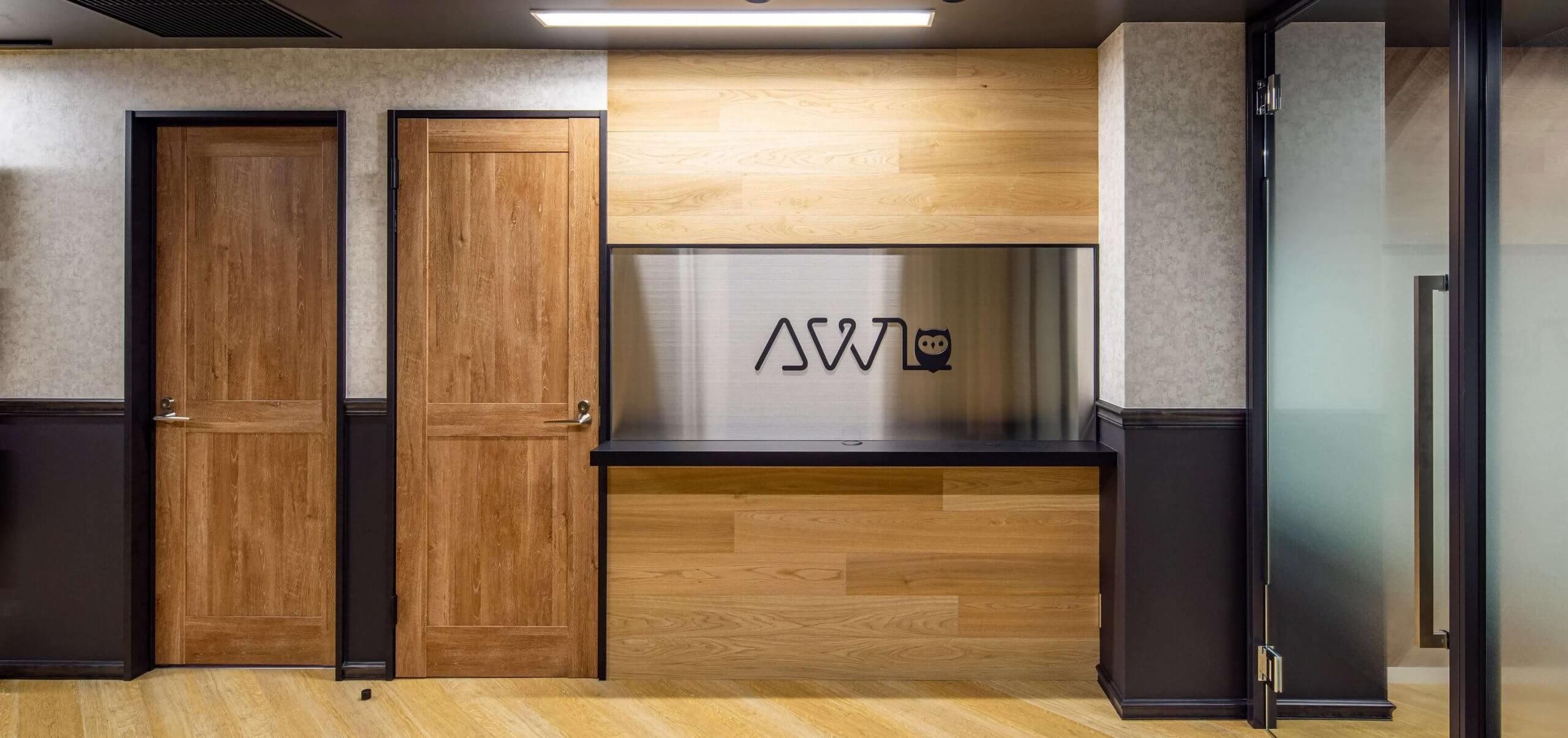 ショールームとしてエントランスを活用 株式会社AWL