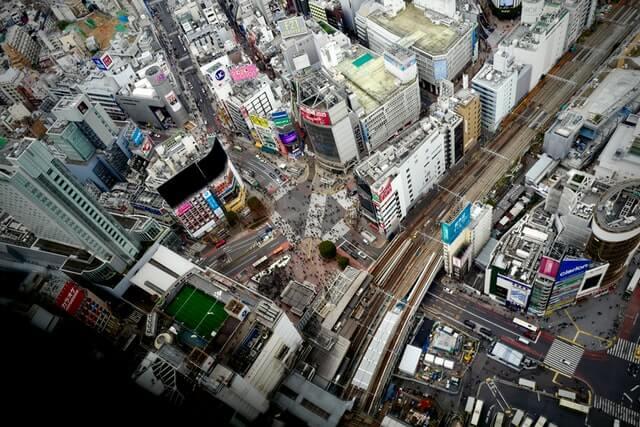 流行の発信地である渋谷区